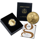 2008-W 1 oz Burnished Gold American Eagle (w/Box & COA) - Mintage of ONLY 11,908 Coins!
