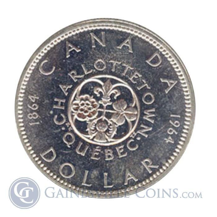 Image Showcase for 1964 Canadian Silver Dollar Charlottetown