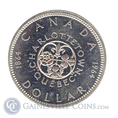 1964 Canadian Silver Dollar Charlottetown