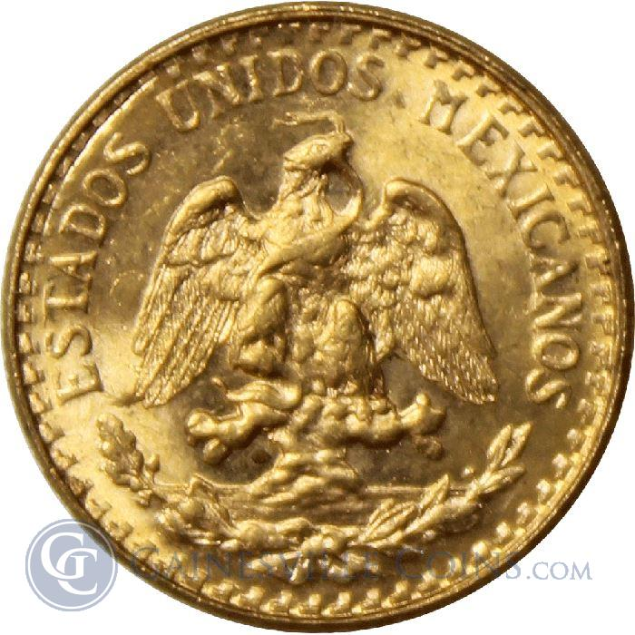 Image Showcase for Gold Mexican 2 Pesos  (.0482 oz Gold) - Random Dates