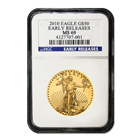 2010 $50 American Gold Eagle NGC MS69 Early Release