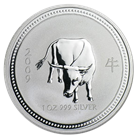 2009 Perth Mint 1 oz Silver Lunar Year of the Ox (Lunar Series 1)