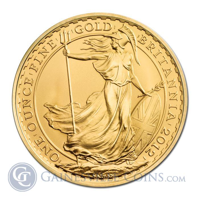 Image Showcase for 2012 1 oz Gold Britannia Bullion Coins