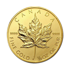Random Year 1/2 oz Gold Canadian Maple Leaf .9999 Pure