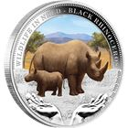 2012 Wildlife in Need Black Rhinoceros 1oz Proof Silver Coin