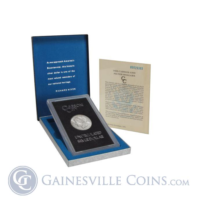 Image Showcase for 1884-CC GSA Morgan Silver Dollar (With Box and COA)