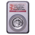 2012 Perth Mint High Relief Silver Dragon NGC PF70 Early Releases