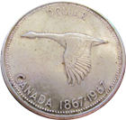 1967 Canadian Silver Dollar Centennial Coin - Flying Goose