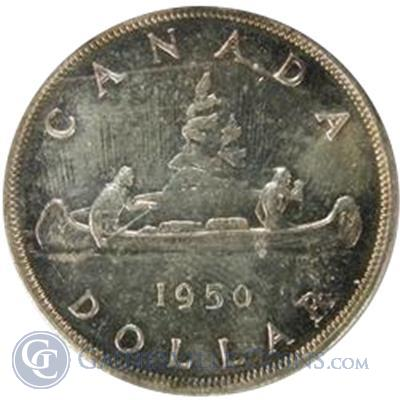 1950   1952 Canadian Silver Dollars