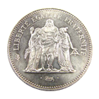 France 1974-79 50 Francs Silver Hercules ASW .8682