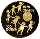 1979 1/2 oz Proof Gold Canadian Coin (UNICEF - Year of the Child) - With Box and COA