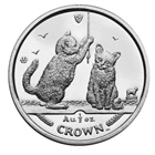 2001 1 oz Proof Silver Somali Kittens Cat Series Isle of Man (With Box and COA)