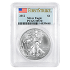 2012 1 oz Silver American Eagle MS-70 PCGS First Strike