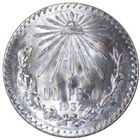 1920-1945 Mexican Silver 1 Peso Silver Cap and Ray - ASW .3856 (circulated)