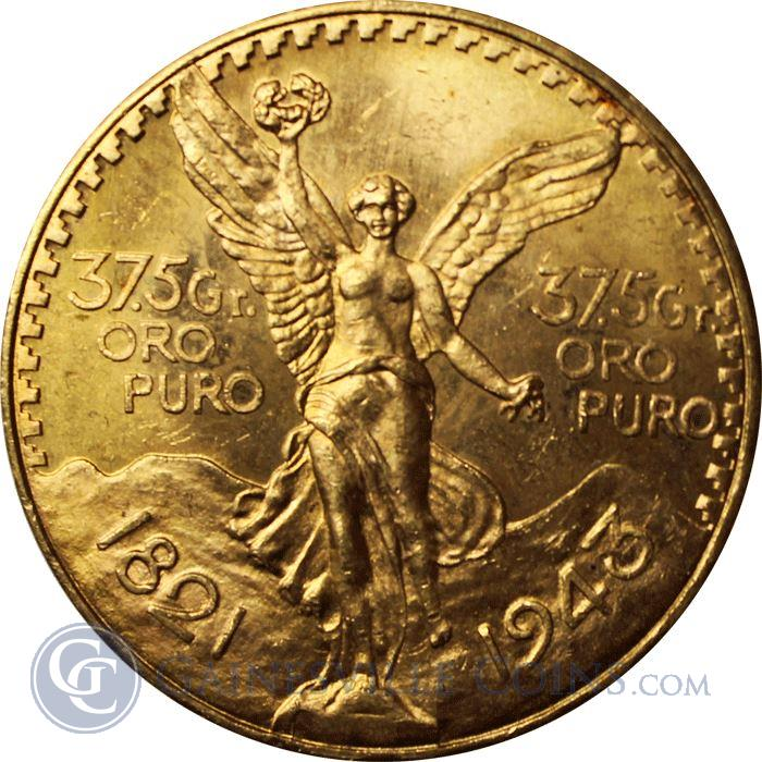Image Showcase for Mexico 1943 50 Pesos Gold Coin (1.2057 oz) - Mintage of Only 89,000 Coins
