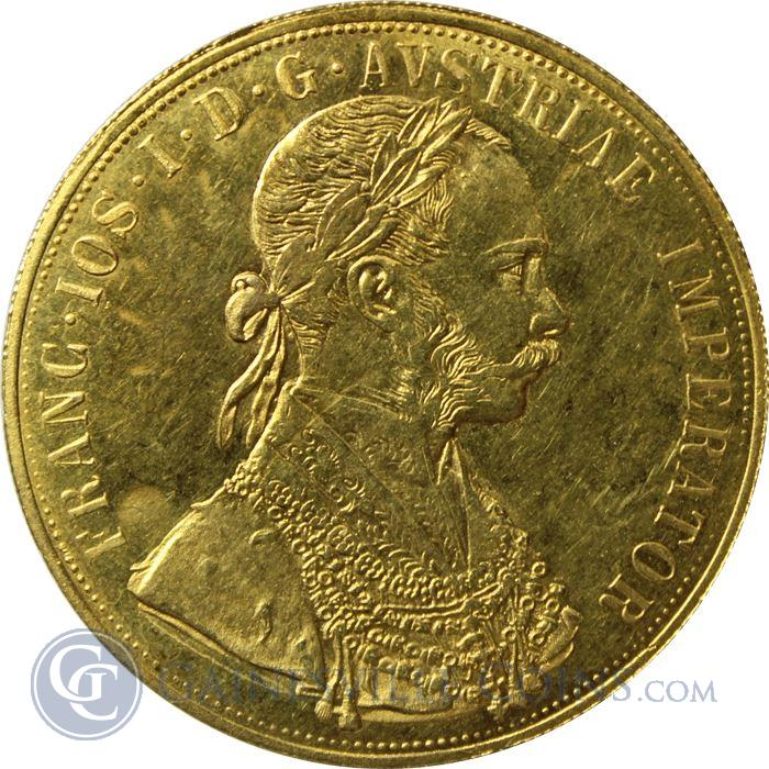 Image Showcase for 1915 Gold Austrian 4 Ducat (.4438 oz of Gold)