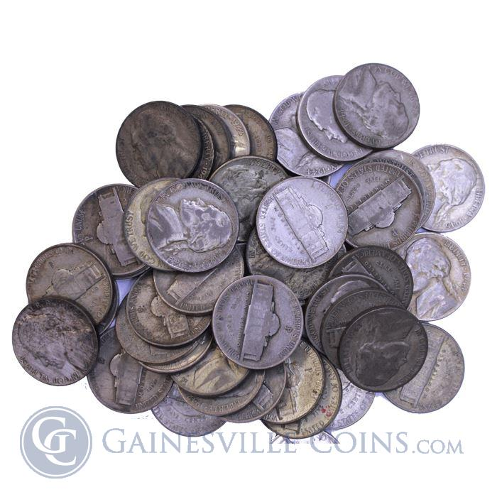 Image Showcase for 35% Silver War Nickel Coins - $1 Face Value