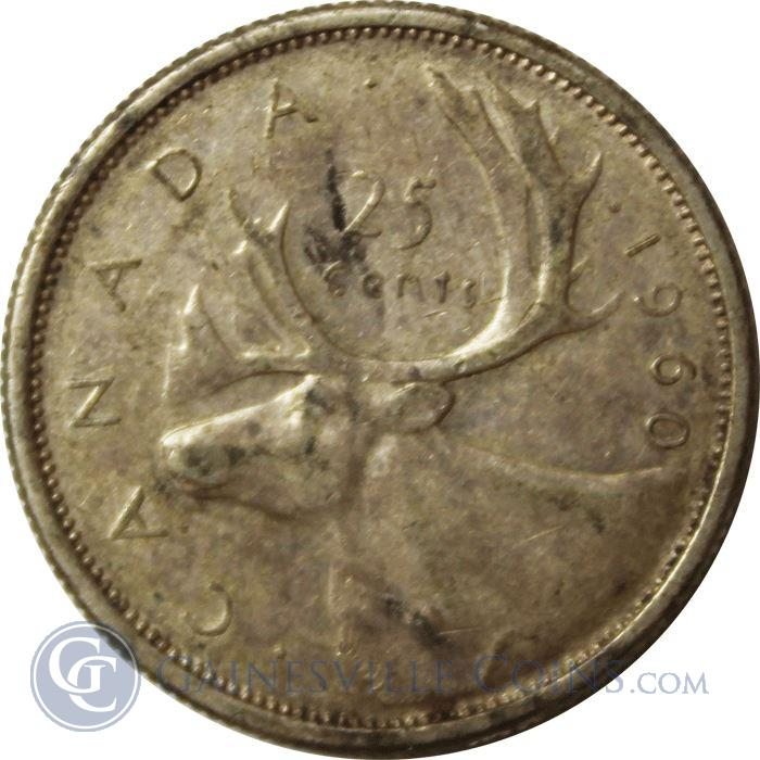 Image Showcase for Elizabeth II Canadian Silver 25 Cents Coin (.15 troy ounces)