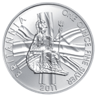 2011 Silver Britannia 1 oz Bullion Coin