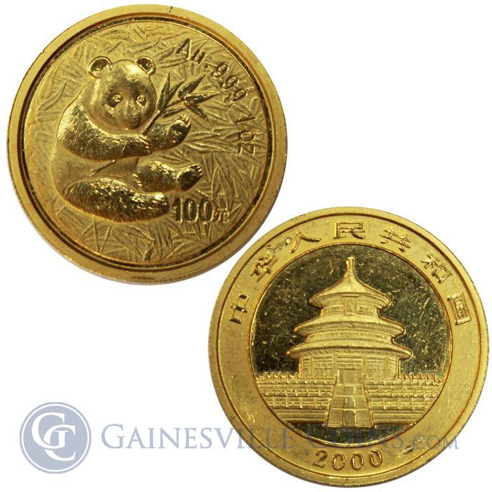 Image Showcase for 2000 1 oz Gold Chinese Panda - abrasions