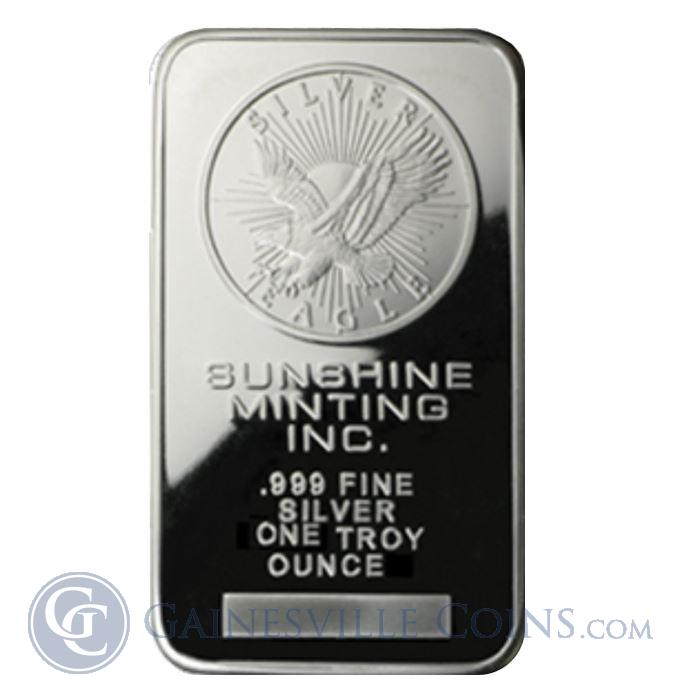 Image Showcase for 1 oz Sunshine Mint Silver Bar .999 Fine