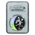2008 Silver Canadian $25 Olympics Figure Skating NGC PF69