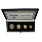 1990 Bermuda 4 Coin Hogge Money Gold Set Produced by the Royal Mint (Only 500 Mintage) (Gold Content-1.85 oz)