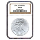 2006-W 1 oz Silver American Eagle MS-70 NGC (Burnished)
