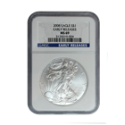 2008 1 oz Silver American Eagle MS-69 NGC Early Release