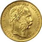Austria 8 Florin/20 Francs Gold Coin - .1867 oz of Gold (Random Dates)