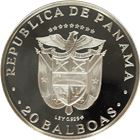 1971 Panama 20 Balboa Proof Silver (150th Anniv.of Independence) - 3.85 oz of Silver