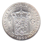 Netherlands 1 Gulden Silver Coin - .23  oz of Silver (Random Dates)