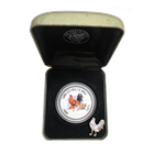 2005 Perth Mint 1 oz Silver Year of the Rooster Colorized