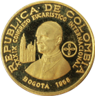 1968 Colombia 200 Pesos Proof Gold Pope Paul VI (.2488 oz of Gold)