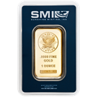 1 oz Sunshine Mint Gold Bars in Assay Card
