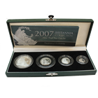 2007 4 - Coin Proof Silver Britannia Set (With Box and COA)