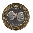 Gold Coast Limited Edition Ten Dollar Gaming Token .999 Fine Silver (Seven Eleven)