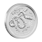 2013 2 oz Silver Australian Lunar Year of the Snake Coin 