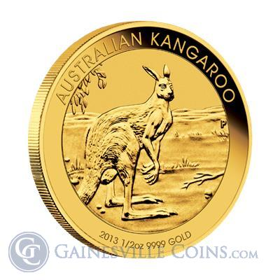 2013 1/2 oz Gold Perth Mint Kangaroo Coin | Gainesville Coins