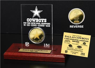 Dallas Cowboys Super Bowl Champions Etched Acrylic