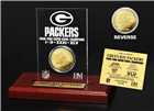 Green Bay Packers Super Bowl Champions Etched Acrylic