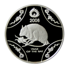 2008 1/2 oz Proof Silver Rat - Royal Australian Mint