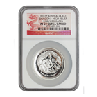 2012 1 oz Silver High Relief Lunar Year of the Dragon NGC PF69 Early Release