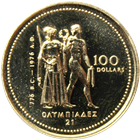 1976 Canadian 1/4 oz Gold $100 Olympic Coin