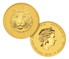 2010 1/10 oz Gold Perth Mint Year of the Tiger Coin