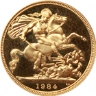 1984 Proof Gold British Sovereign (With Box and COA) - .2354 oz of Gold
