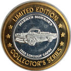 Marilyn Monroe 1955 Lincoln Capri $10 Silver Gaming Token .999 Pure Silver (Imperial Palace)