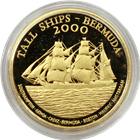 2000 Bermuda Tall Ships $15 Proof Gold Coin with Box and Cert. AGW-.5129