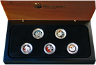 2009 1/10th ounce Platinum 5-coin Boxed Set - Discover Australia Dreaming Series