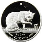 1999 1 oz Proof Silver British Blue Cat Isle of Man (With Box and COA)